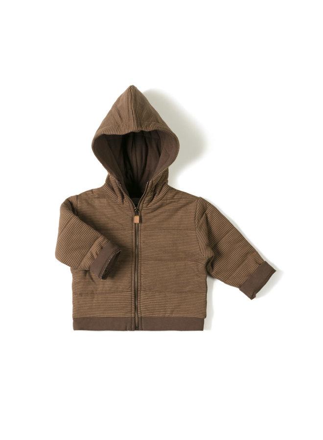 Baby jacket - Stripe toffee choco