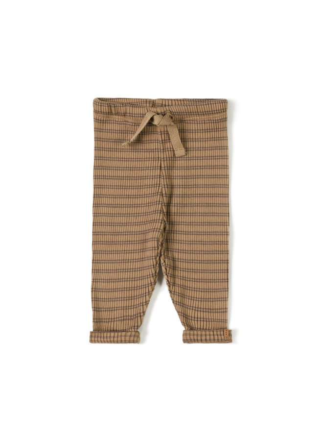 Rib legging - Choco stripe