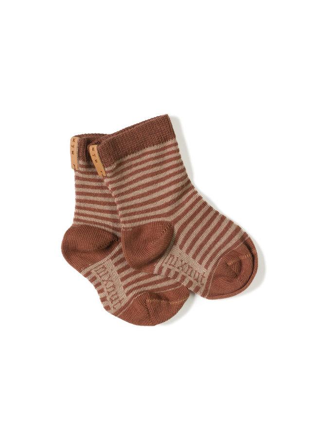 Socks - Stripe rose jam