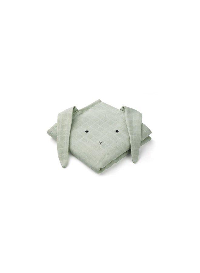 Hannah muslin cloth rabbit - Dusty mint 2-pack