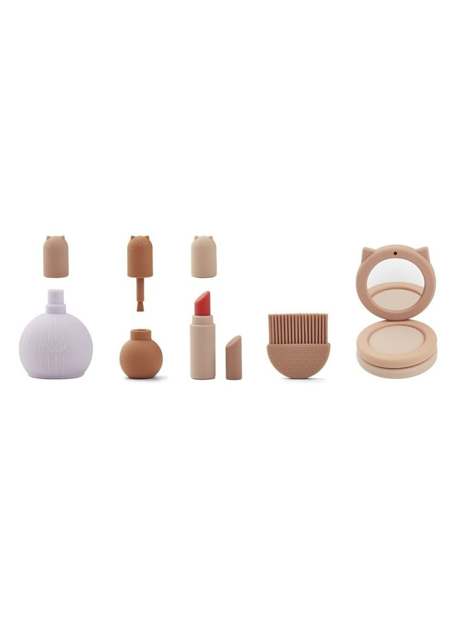 Silicone make-up set - rose multi mix