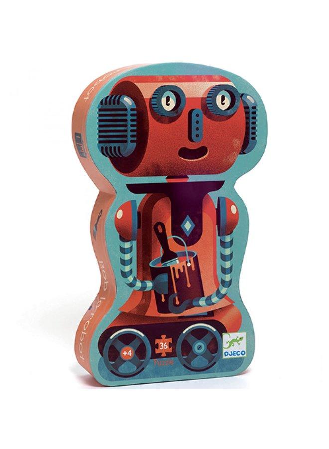 Sillouette puzzel - Bob the robot