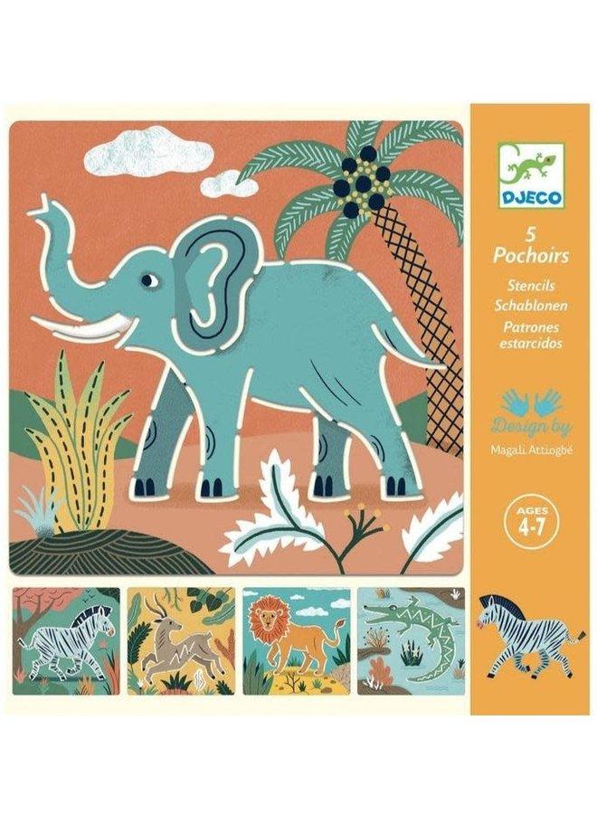 Sjablonen - Wilde dieren
