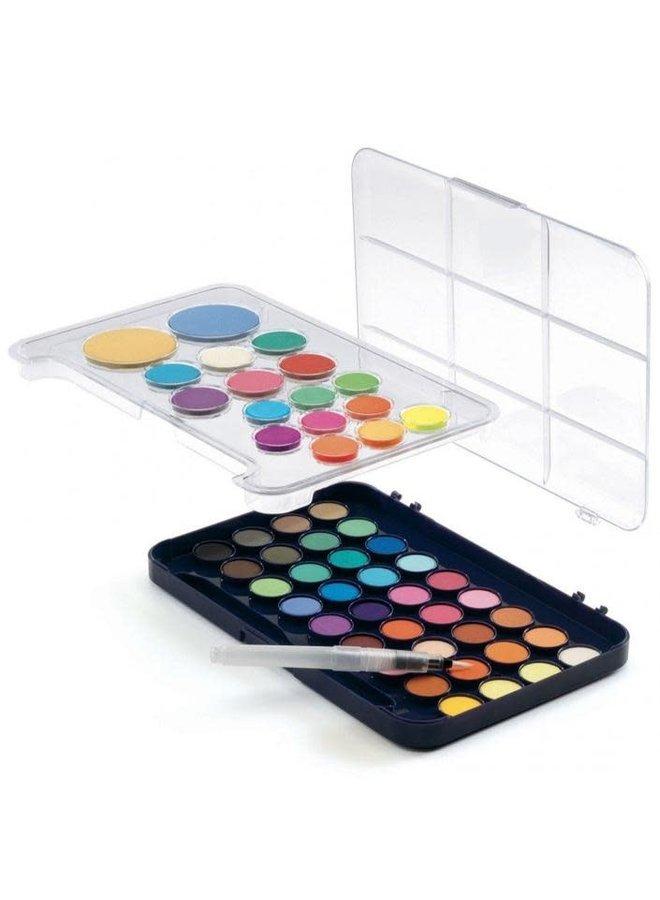 Waterverf palet - 50 kleuren