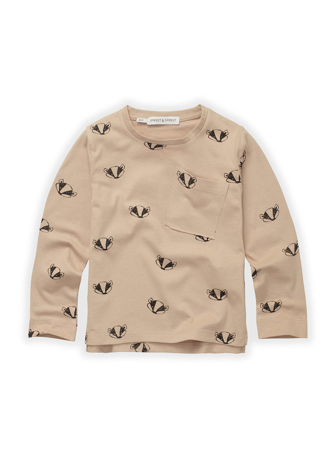 T-shirt - Badger print
