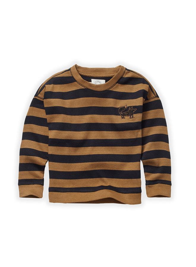 Sweatshirt - Stripe - Mustard/Black