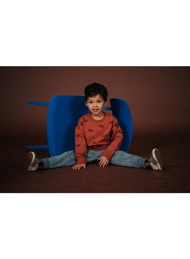 Sweatshirt - Badger print - Auburn
