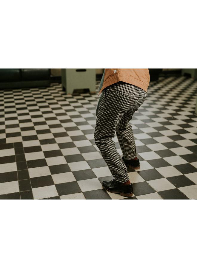 Pant - Block check - Black