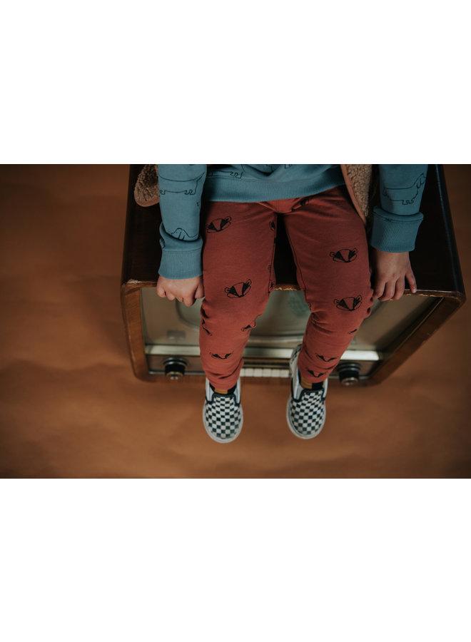 Legging - Badger print - Auburn