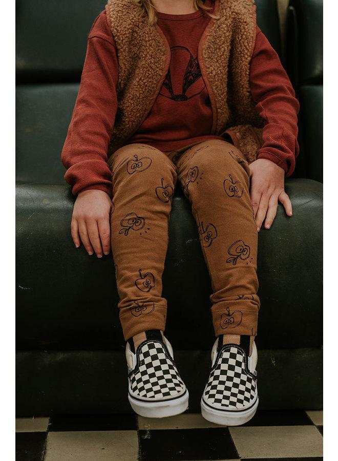 Legging - Apple print - Mustard