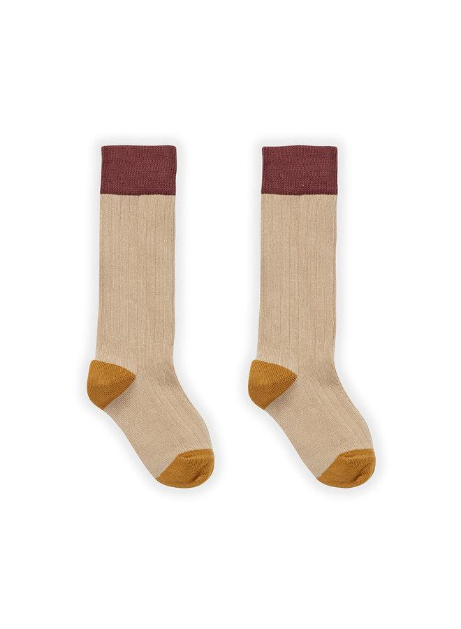 Socks - Colorblock Nougat - Nougat