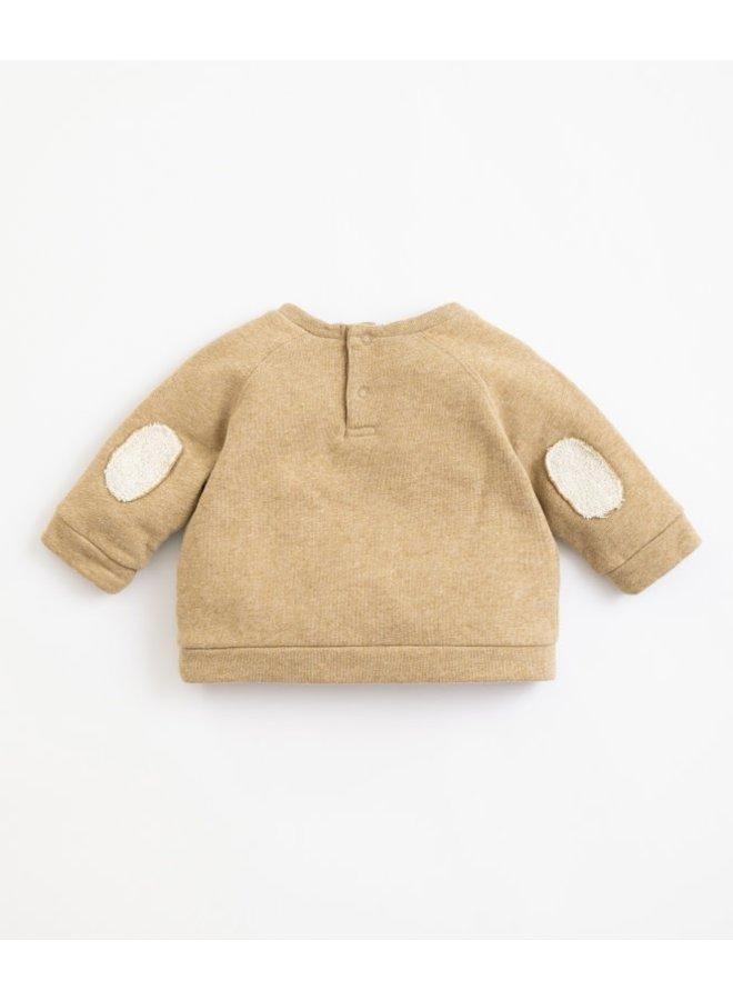 Fleece sweater - Paper melange