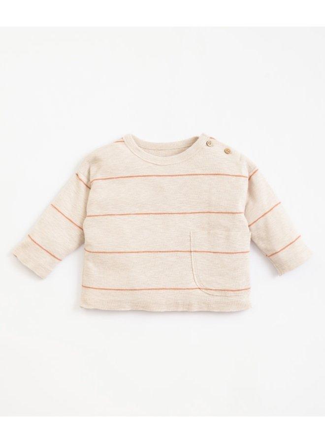 Striped rib T-shirt - Miro