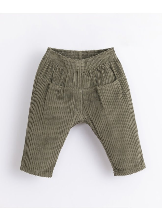 Corduroy trousers baby - Avocado