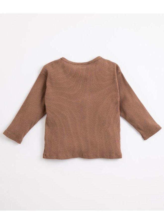 Rib sweater - Coffee