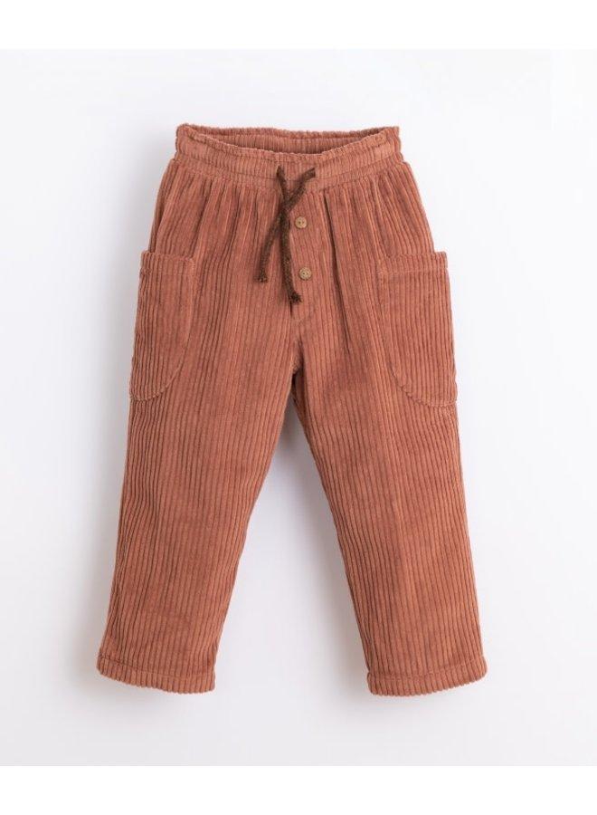 Corduroy trousers - Sanguine