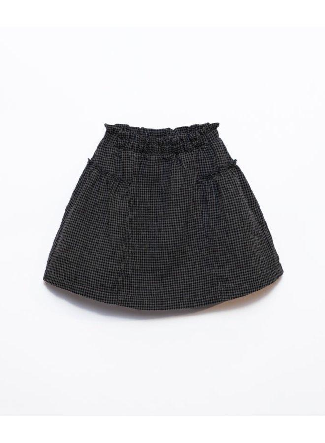 Vichy woven skirt