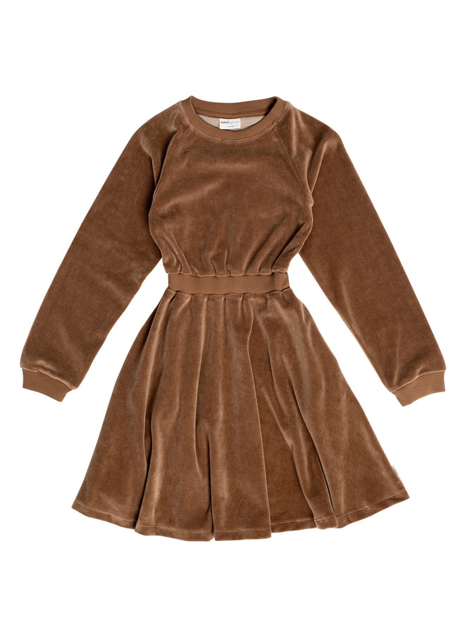 Caramel Coyote velour dress