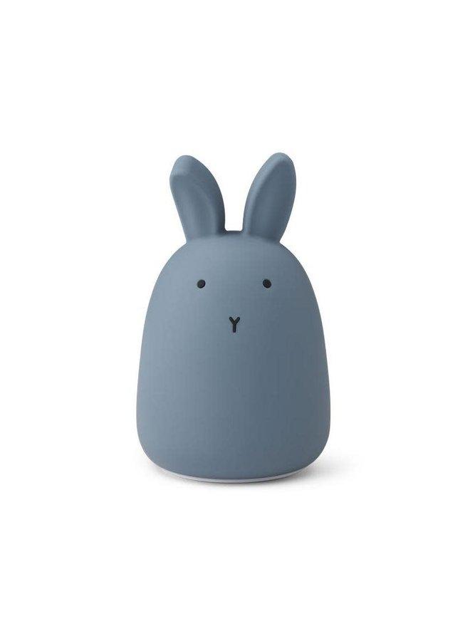 Winston night light rabbit - Stormy Blue