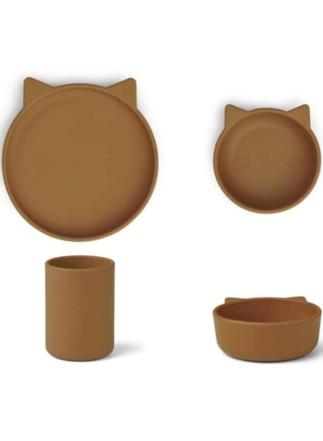 Syrus silicone set cat - Mustard
