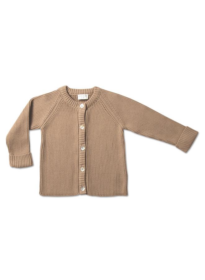 Baby knit cardigan - Sand