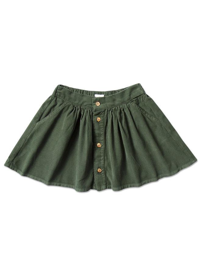 Mini button skirt - Mist green