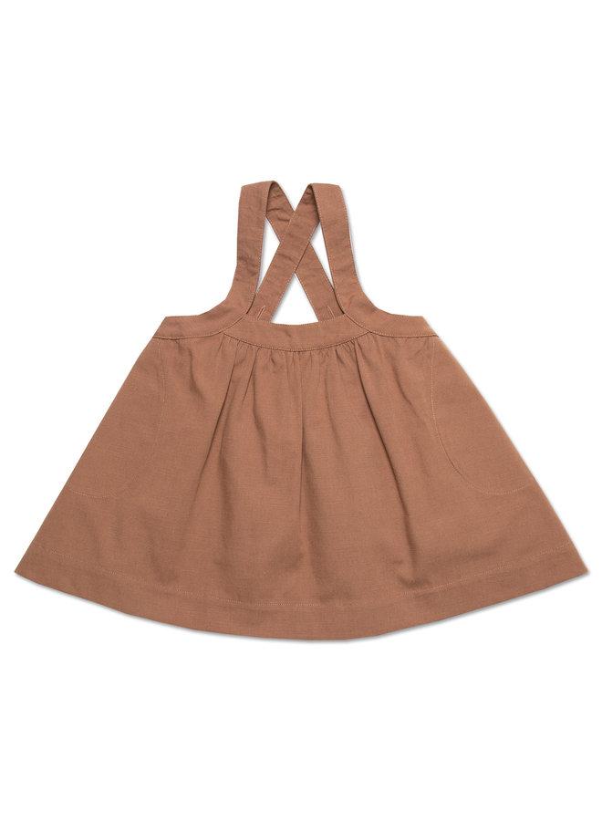 Oversized pinafore dress - Clove