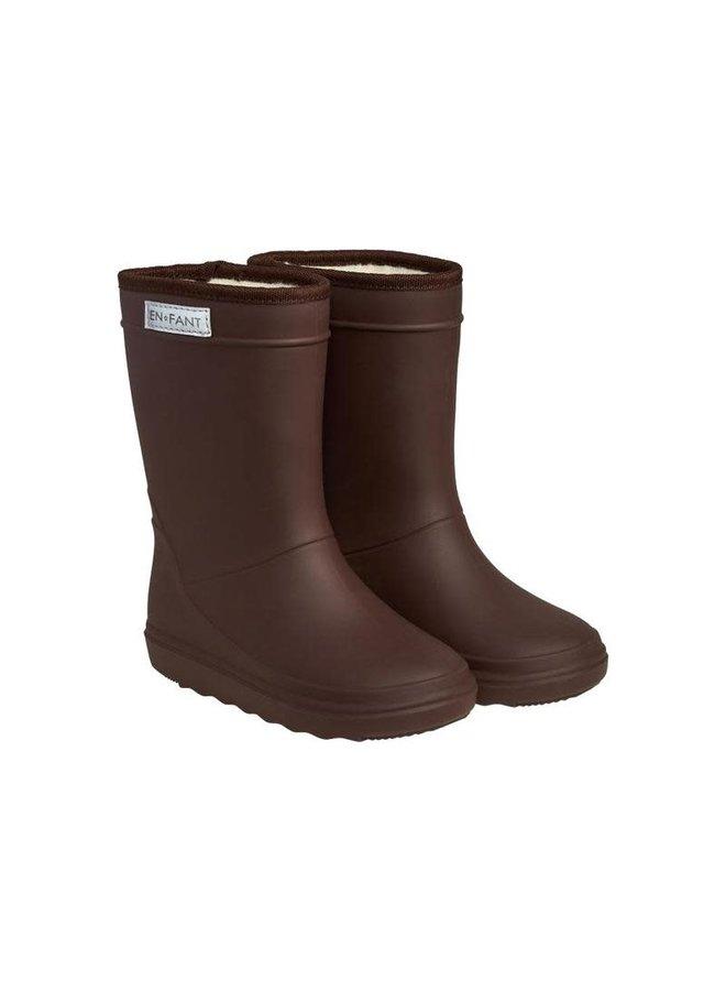 Thermo laarzen dark brown