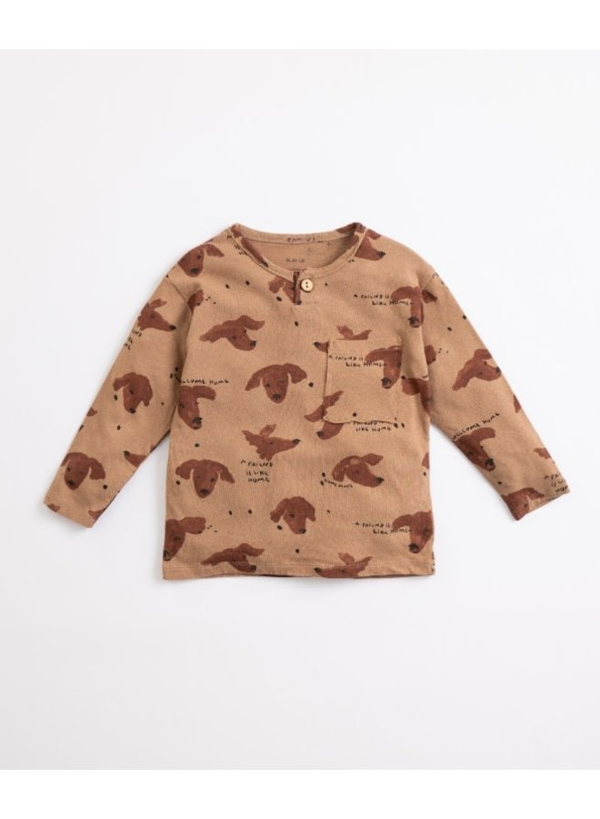 Printed fleece t-shirt