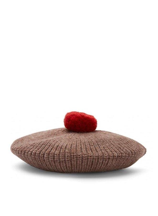 Miro beret - Bunny brown melange