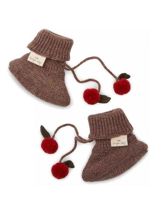 Miro knit boots - Bunny brown melange
