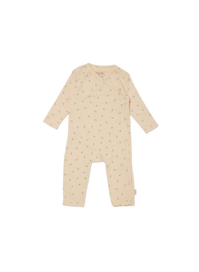 Newborn onesie - Petit Bisou blue