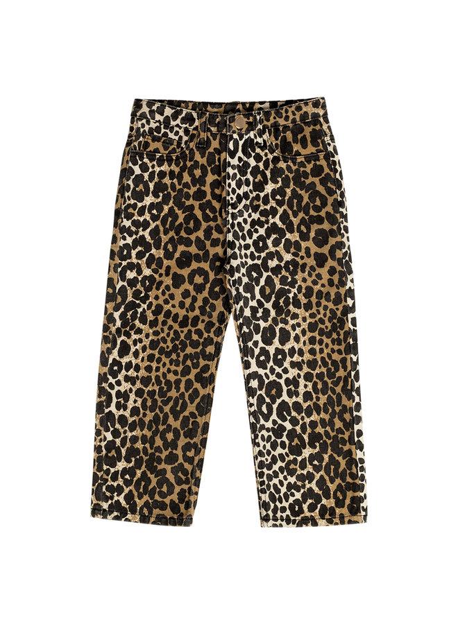 Luxurious leopard jeans