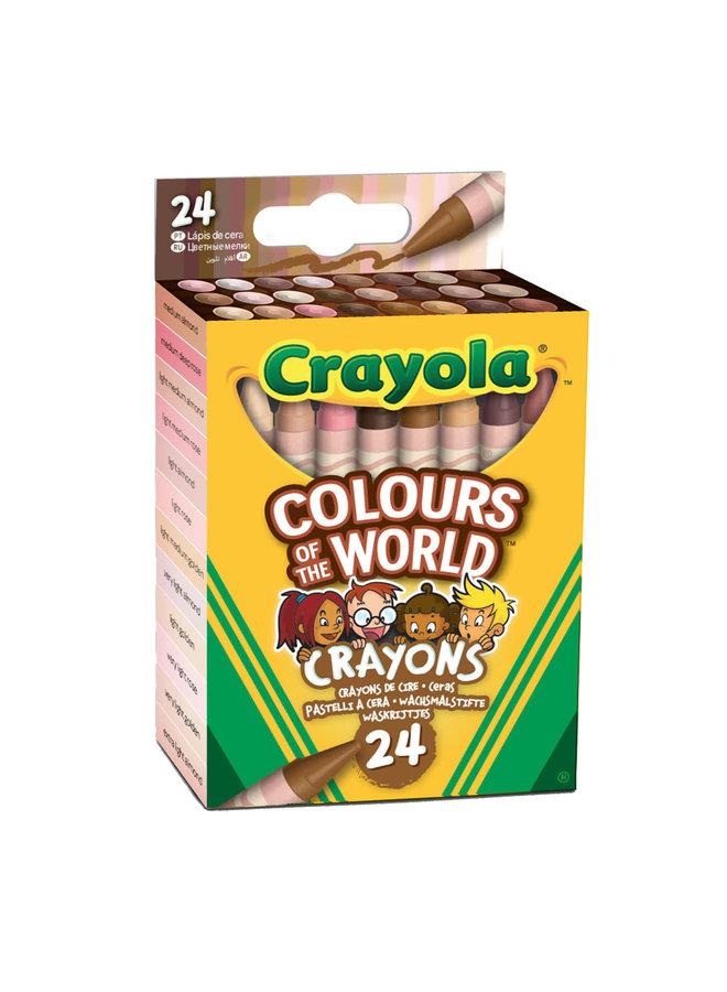 Colors of the world waskrijtjes - 24 stuks