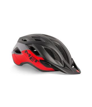 MET Met Helmet Crossover M 52/59, black/red