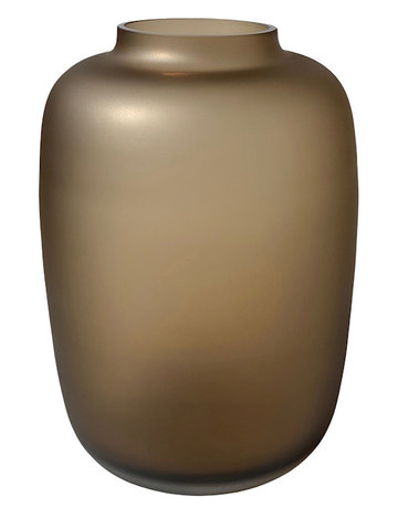 VASE THE WORLD ARTIC SATIN TAUPE