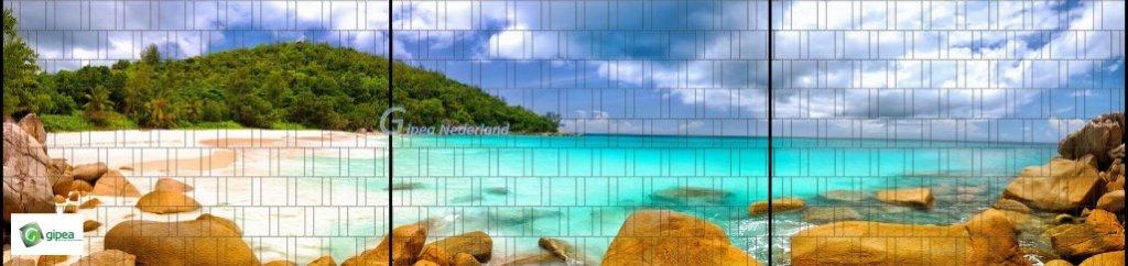Gipea Panorama vlechtband 190 mm XXL Lagune