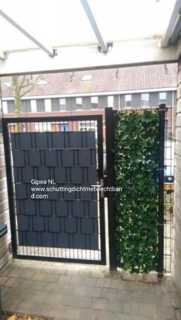 Gipea Easy To Fix Optimal Visibility Protection For Gate & Fence Gipea Ekoband voor schutting en tuinpoorten, klik op pijltje voor uw kleur