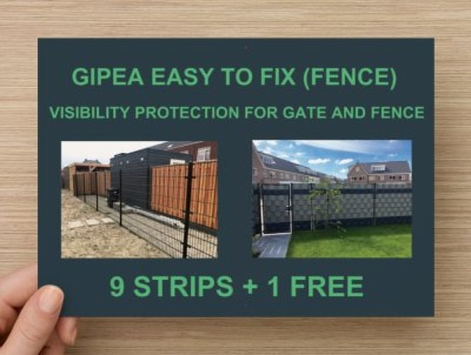 Gipea Easy to fix Vlechtband 10 x 2525 cm (FENCE) + 20 montageklemmen