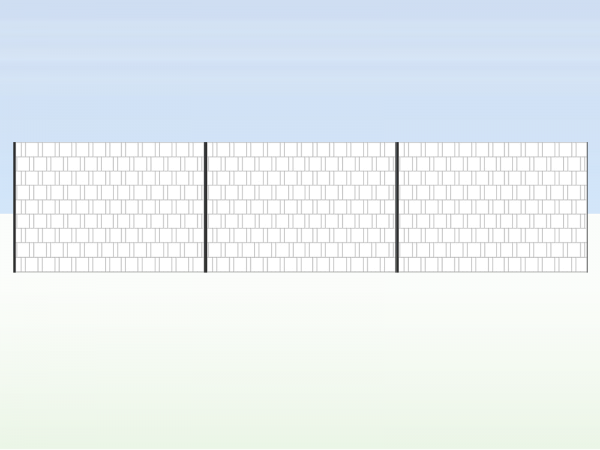 Gipea Easy To Fix Optimal Visibility Protection For Gate & Fence Gipea Easy Fix ( EIGEN ONTWERP ) 3 Panelen