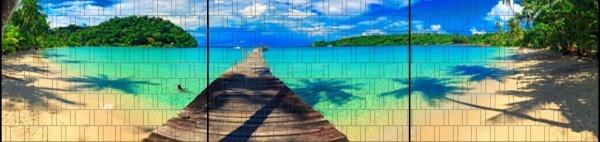 Gipea Easy To Fix Optimal Visibility Protection For Gate & Fence Gipea Easy Fix ( PANORAMA) 3 panelen / Karibik
