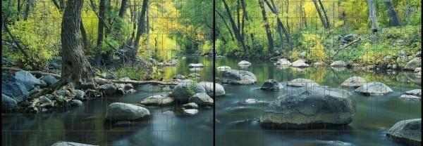 Gipea Gipea Easy Fix ( PANORAMA ) 2 panelen Fluss