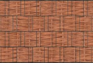 Tuinpoort dicht met 3-d band 10 meter plus 20 klemmen ZW. Houtmotief