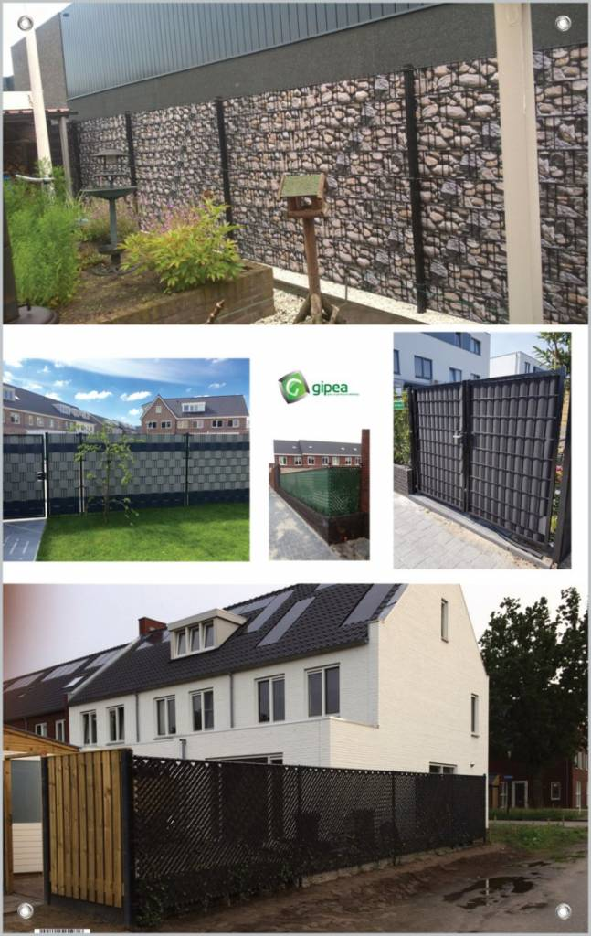 Gipea Easy To Fix Optimal Visibility Protection For Gate & Fence BASIC LINE GRIJS 1.4  / PER METER BESTELLEN