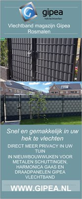 Gipea Easy To Fix Optimal Visibility Protection For Gate & Fence  Ekoband 19 cm. 10  meter