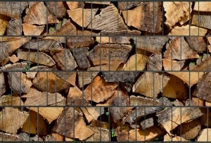 Gipea 3 D band  (rol 10 meter) Gipea met 3-d band Hout motieven