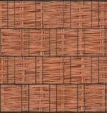 Gipea Tuinpoort dicht met 3-d band plus 20 klemmen ZW. Houtmotief - Copy