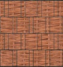 Tuinpoort dicht 10 x 125 cm Houtmotief