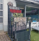 Gipea Easy To Fix Optimal Visibility Protection For Gate & Fence SALES DISPLAY  STAAF MAT RAL 7016 80 CM X 120 CM  X 170 CM