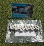 Gipea Easy To Fix Optimal Visibility Protection For Gate & Fence Set van 4 afwerk lijsten met bevestiging drukprofielen voor: Poort & Draad-staafmat schutting